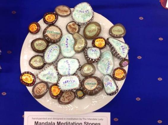 Mandala Meditation Stones - Back View