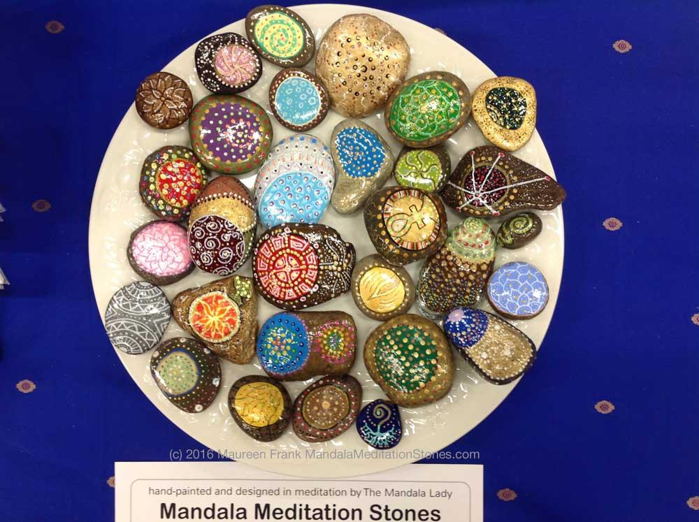 Mandala Meditation Stones - Front Views