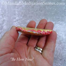 Mandala Meditation Stone - Hand Painted Stones - The Mandala Lady - Be Here Now