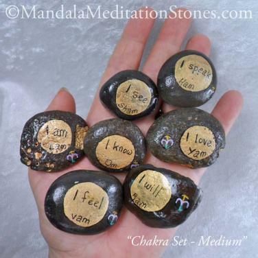 Chakra Meditation Stone Sets - The Mandala Lady - Hand-painted Stones
