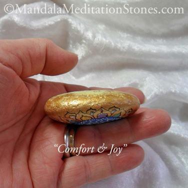 Comfort & Joy Mandala Meditation Stone - The Mandala Lady - Hand painted stones