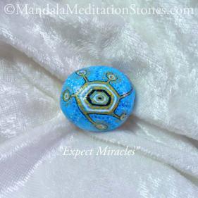 Mandala Meditation Stone - The Mandala Lady - Hand painted stones