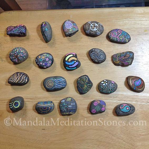 Mindfulness Stones - The Mandala Lady - Mandala Meditation Stones
