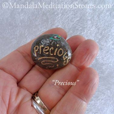 Precious - Mindfulness Stone - Hand Painted Stone - The Mandala Lady