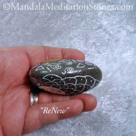 ReNew Mandala Meditation Stone - The Mandala Lady - Hand painted stones